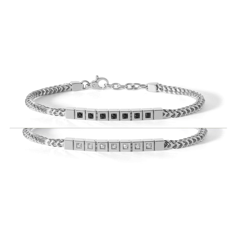 Comete Gioielli bracciale Tennis Reverse in argento